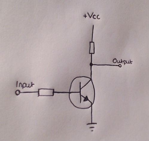 NOT Gate using a transistor TPHelectronics