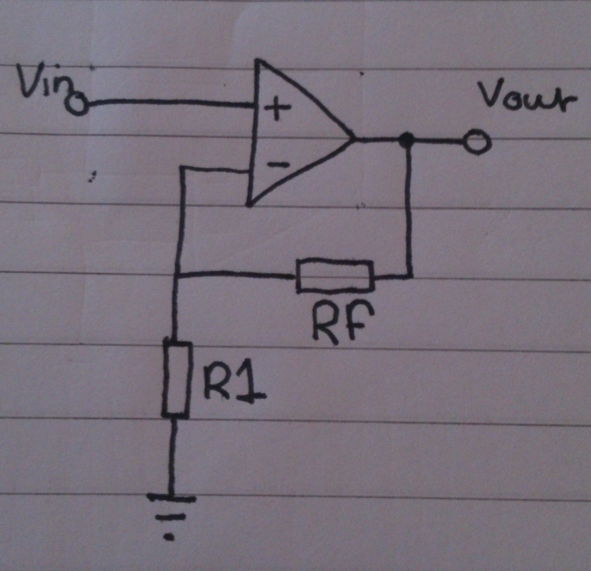 Non Inverting Amplifier Tphelectronics Circuit Diagram